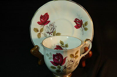 Royal Adderley Roses  Cup and Saucer