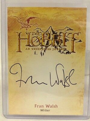 THE HOBBIT DESOLATION OF SMAUG AUTOGRAPH FRAN WALSH WRITER SP ca-3 card