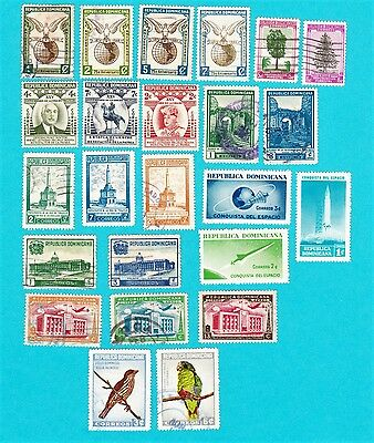 Dominican Republic GOOD LOT OF 24 MH & USED STAMPS. lot#8913