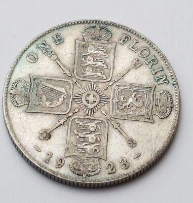 1923 - Silver - Two Shillings / Florin - Great Britain - King George V - UK Coin