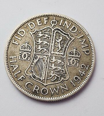 1942 - Silver Coin - Half Crown - Great Britain - King George VI - English UK