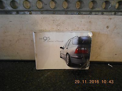 Saab 95 4Dr Saloon Owners Hand Book From A 2002 Model
