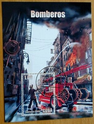 Fire Engines & Firefighters 2006 Stamp Sheet VFU #