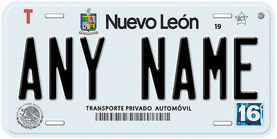 Nuevo Leon Mexico Any Text Personalized Novelty Auto License Plate C06