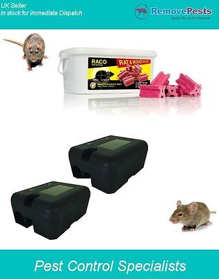 Professional Rat &  Mouse poison block rodent bait station traps for rodents