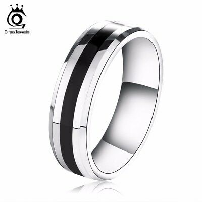 Stainless Steel Couple Ring Fashion Men Women Jewelry wedding black/silver color