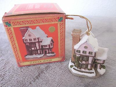 David Winter Cottages Christmas Ornament Suffolk House