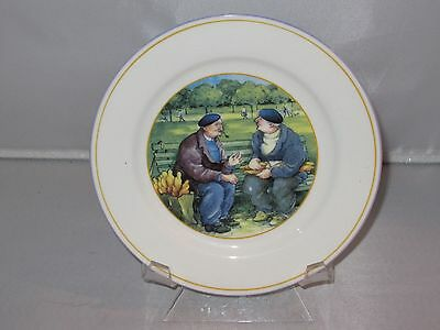 Sabatier FRENCH BREAD Men on a Bench Bone China Dessert Plate - EUC & SABATIER FRENCH BREAD Men on a Bench Bone China Dessert Plate - EUC ...