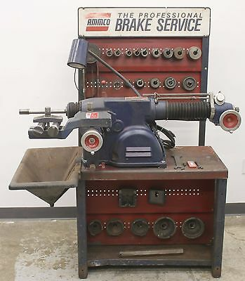 Very Nice Ammco 4100B Heavy Duty Disc and Drum Brake Lathe w/ Stand, Tooling