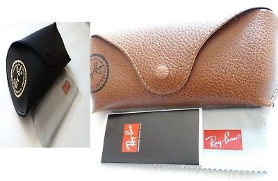 Ray ban Brand new leather case Black & Brown with cleaning cloth