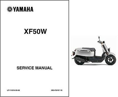 2007-2016 Yamaha XF50 ( C3 - Vox - Giggle ) Scooter Service Manual on a CD