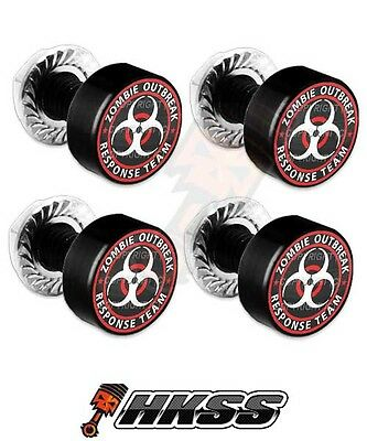 Zombie Outbreak Response RW 2 Silver Billet Aluminum License Plate Frame Bolts