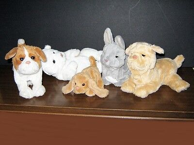 Furreal Friends Interactive Plush Bunny Dog Bear Lot Of 5 Toys
