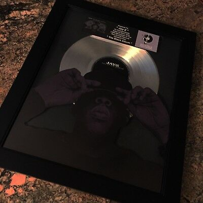 Jay Z The Black Album  Platinum Record Disc Album Music Award Grammy RIAA