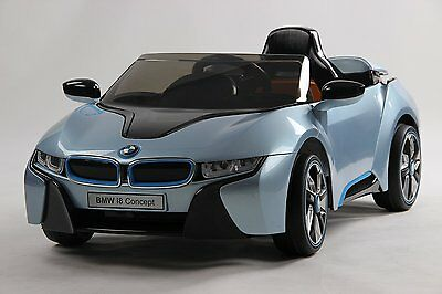 BMW I8 Blue 12V Kids Electric Ride on Car Remote Parental Control 2 Speed New
