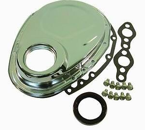 Racing Power Company R4934 Chrome Timing Chain Cover For Small Block Chevy