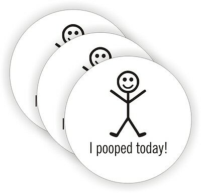 3x I Pooped Today Hard Hat Stickers  Motorcycle Helmet Decals  Funny Labels