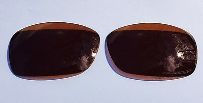 New Amber Brown Engraved Polarized Replacement Oakley Hijinx Lenses