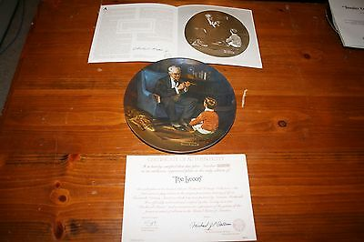 Vintage Norman Rockwell Collectors plate The Tycoon