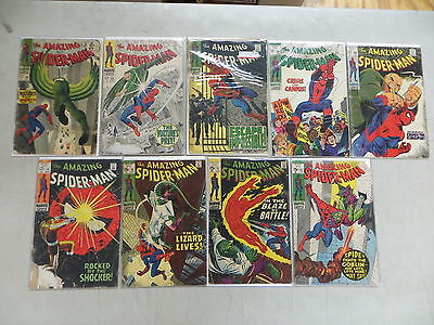 Amazing Spider-Man 9 Issue Silver Comic Run 48-97 Marvel
