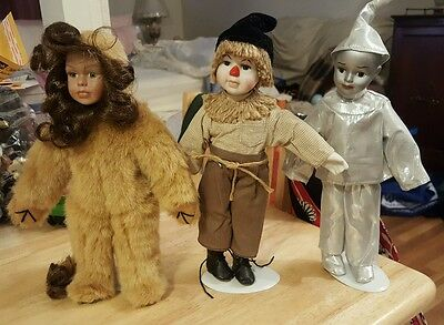 """Seymour Mann Wizard Of Oz Dolls Connoisseur Collection (3)- 11"""" Tall"""