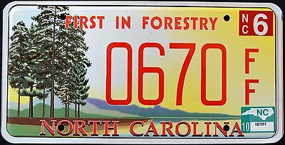 "NORTH CAROLINA "" FORESTRY - TREE "" Graphic License Plate"