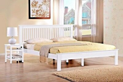 Lavish Windsor Wooden Bed Frame In Oak & White Finish With Mattress Options