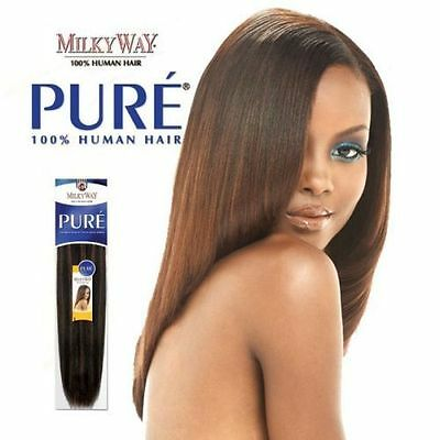 """Pure Yaky Weave By Milkyway 100% Human Hair Extension 10""""12""""14""""16""""18""""20""""22"""""""