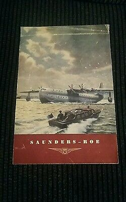 Saunders- Roe SR/45 Aircraft Seaplane Manufacturers Brochure  **Very Rare **