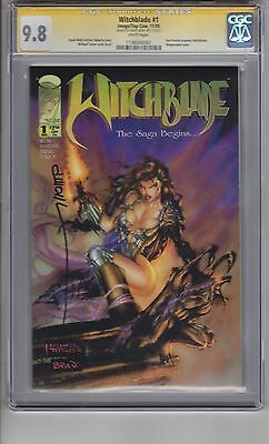 Witchblade #1 9.8 CGC(SS) Wohl WP Sara Aquires Witchblade! Wrap Cover! 1st Print
