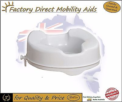 """Elevated Toilet seat Raiser 4"""" 100mm Without Lid Great Easy Toilet Aid"""