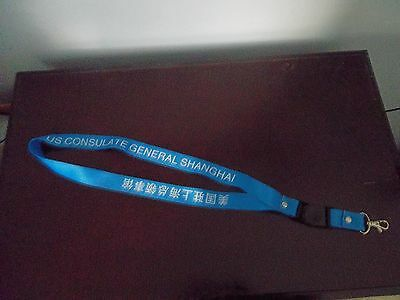 US Consulate General Shanghai~credentials lanyard~with clip and quick release