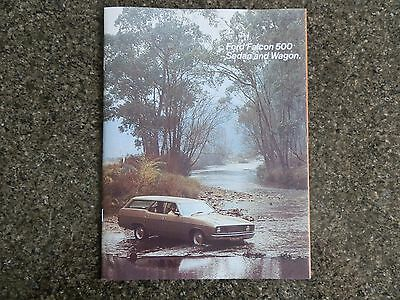 1976 Xc Ford Falcon 500 Sales  Brochure.  100% Guarantee.