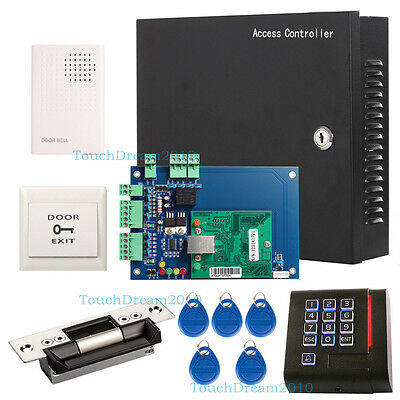 1Door Wiegand TCP/IP Access Control System Kit with ANSI Strike Lock+RFID Reader