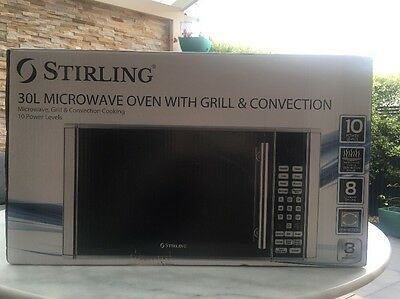 Microwave Oven With Grill & Convection 30lt Sterling Only Used Once