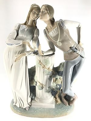 LLADRO Glazed Romeo and Juliet Figurine Model #4750  Stamp & Signed