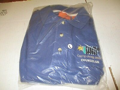 Camp Jeep 2002 Counselor Polo Shirt- Large  New #1