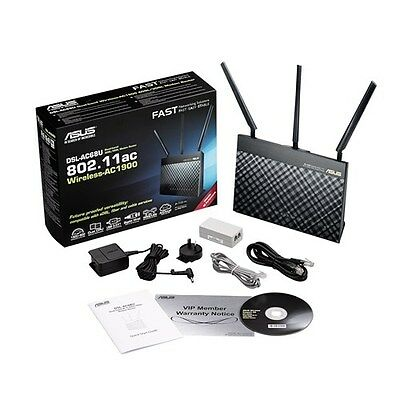 NBN READY ASUS DSL-AC68U ADSL2+ VDSL Wireless AC1900 Modem Router F15