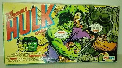 vtg THE INCREDIBLE HULK vs ABOMINATION Board Game PALITOY 100% COMPLETE 1970's
