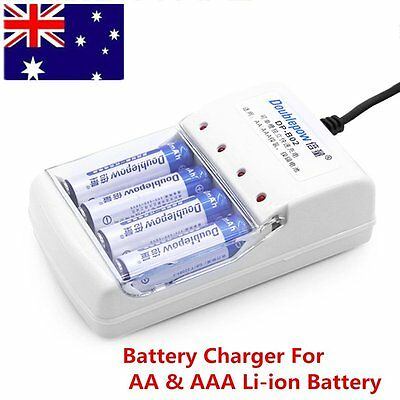 High Quality 4 Slot Battery Charger For AA&AAA Li-ion Rechargeable Battery Hot