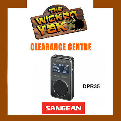 Sangean Stereo DAB+/FM-RDS Pocket Digital Radio Re-chargeable DPR-35 BLACK-NEW