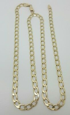"Men's 10k Solid Yellow Gold Cuban Link Chain Necklace 21.75"" 5.1MM 13.9 Grams"