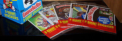 1986 Garbage Pail Kids Giant Stickers 2 Complete Set in Near Mint condition