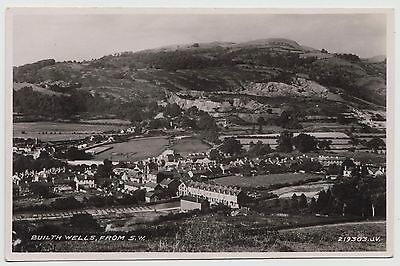 POSTCARD - Wales, Builth Wells from S.W. panoramic view, RP