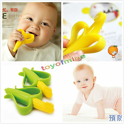 Safe Baby Kids Teether Teething Infant Chew Toys Silicone Toothbrush