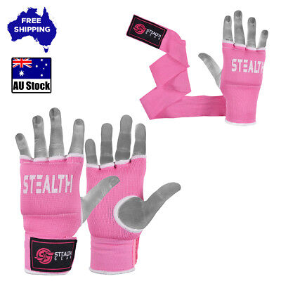 Gel Hand Wraps Quick Inner Gloves Pink Fist Bandages Mma Boxing Straps