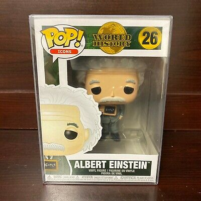 "Funko Pop Icons : World History : Albert Einstein #26 Vinyl ""MINT"" (IN STOCK)"