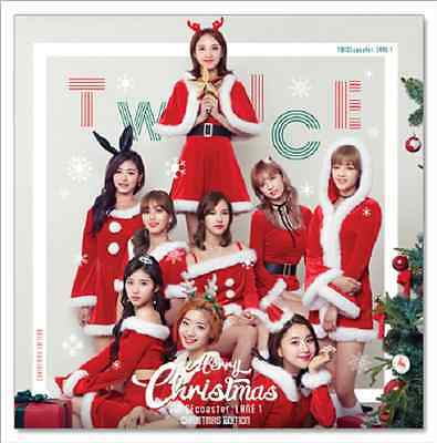 TWICE- TWICEcoaster Official 3rd Christmas Album CD+Photobook+Postcard+Stickers