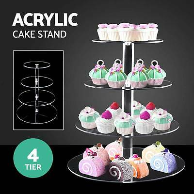 7/6/5/4 Tier Cupcake Stand Acrylic Round Cup Cake Stand Wedding Birthday Party