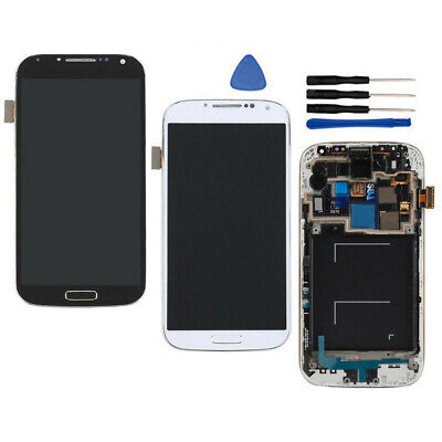 For Samsung Galaxy S4 R970 SCH-I545 SPH-L720 LCD Screen Touch Digitizer + Frame